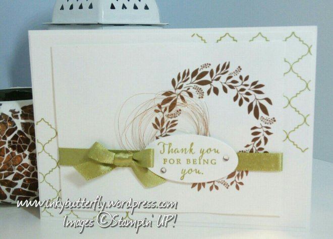 inkybutterfly: Copper embossed Hello Friend card for Global Design Project #107