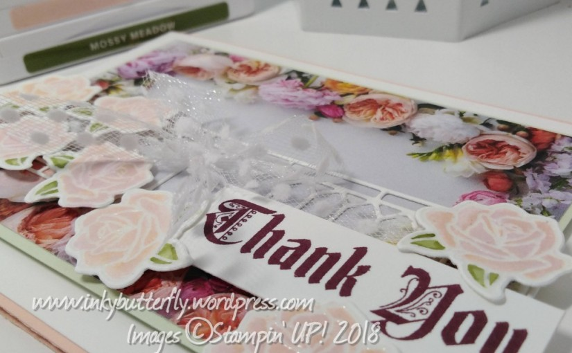 Pretty Floral Thank You – Just Add Ink #425