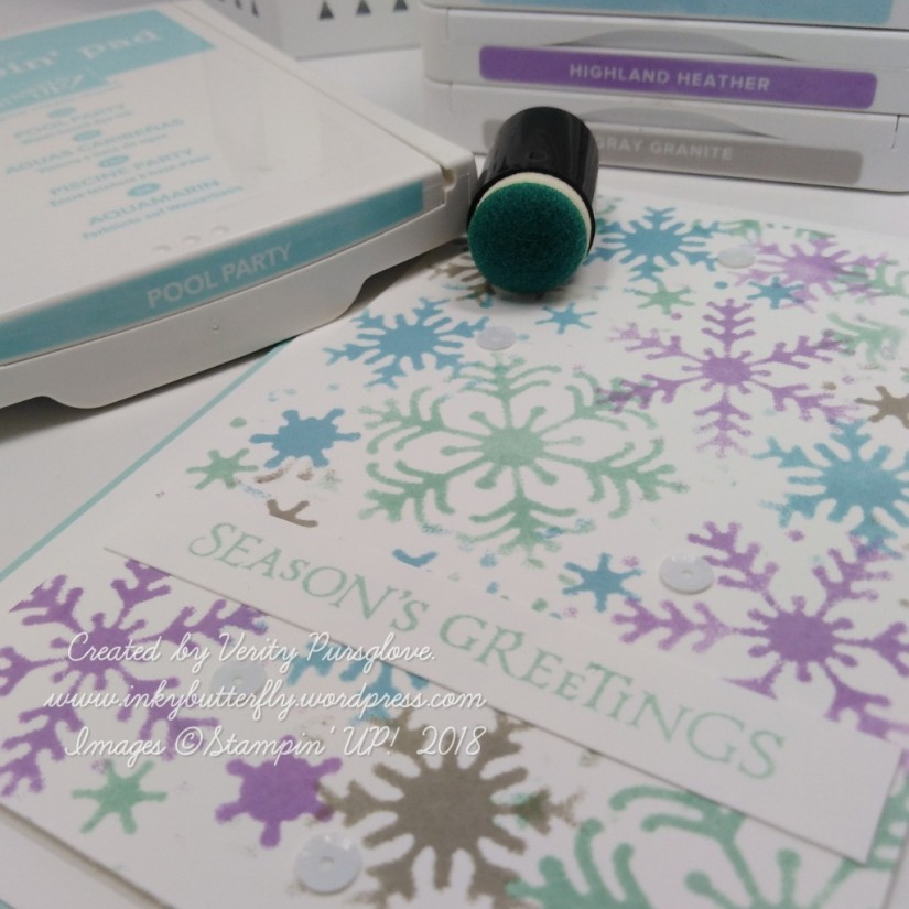 Stencilled Snowflakes