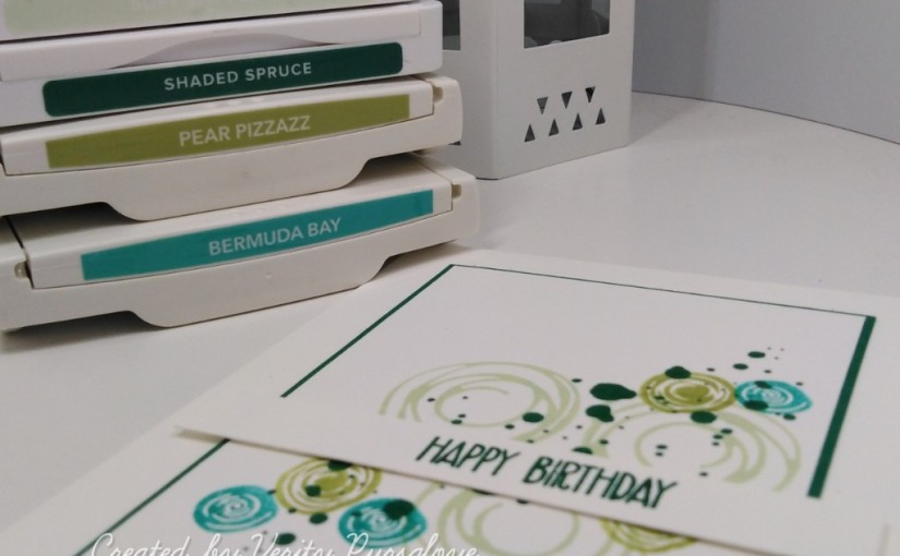 Green Swirl Birthday