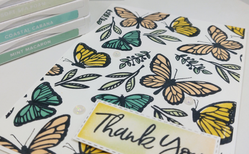 Fun with the Floating and Fluttering stamp set