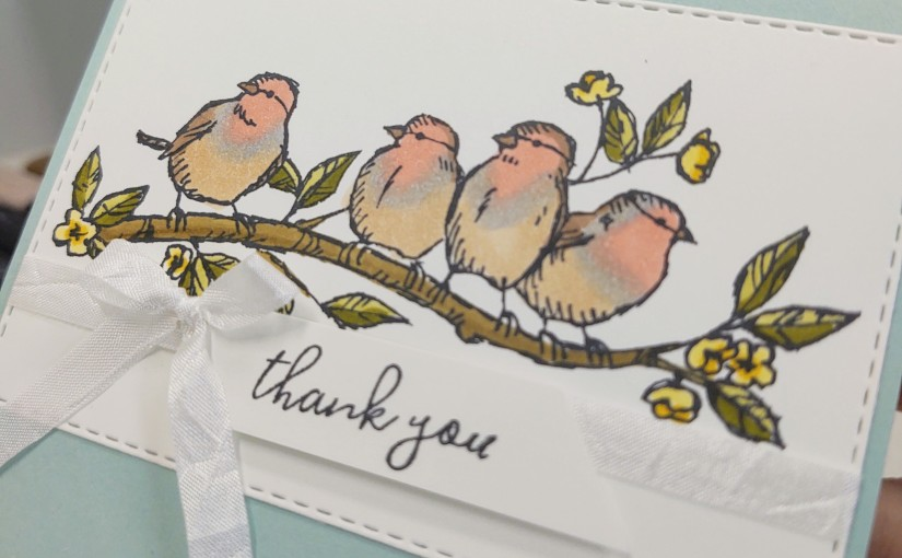 A Bit of Colouring with the Free as a Bird stampset